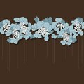 Beautiful Floral Background With Blue Flowers Stock Photos - 27307553