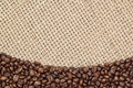 Frame Background Of Coffee Beans. Royalty Free Stock Photography - 27308527