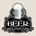 Hand Made BEER /Quality Extra Seal Royalty Free Stock Photo - 27308655