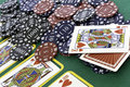 Poker Cards And Chips Royalty Free Stock Photography - 27315677