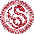 Chinese Paper Cut Snake As Symbol Of Year Stock Photo - 27328690