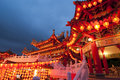 Famous Thean Hou Temple In Malaysia During Chinese New Year Cele Stock Photos - 27334293