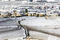 Winter In Piemont, Italy, Snowy Vineyards Royalty Free Stock Image - 27350186