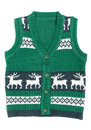 Knitted Vest With A Christmas Ornament (with Deer) Stock Photography - 27356482