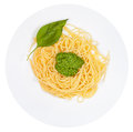 Top View On Spaghetti With Pesto Stock Photography - 27356672