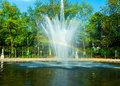 Rainbow Fountain In City Park, Brussels Stock Images - 27362744