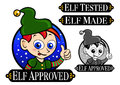 Elf Approved Seal Royalty Free Stock Image - 27367036