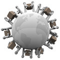 Global Shipping Receiving Shipments Around World Royalty Free Stock Image - 27367246