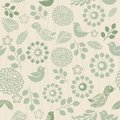 Retro Seamless Floral Pattern Stock Images - 27370444
