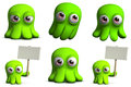 Green Toy Octopus Royalty Free Stock Images - 27370639