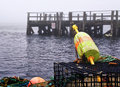 Lobster Buoys And Traps At A Dock Stock Photos - 27370943