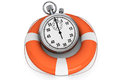 StopWatch With Life Buoy Royalty Free Stock Images - 27387579