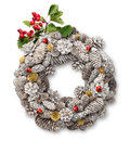 Christmas Door Wreath With Hawthorn Stock Images - 27389194
