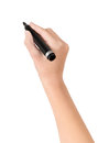 Hand With Marker Drawing Isolated Stock Photos - 27392743