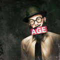 VintAGE Man Growing Elderly In Old Fashioned Style Stock Photography - 27396622