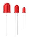 Set Of Red LEDs Stock Photo - 27397870