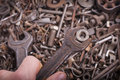Wrench And Nut Royalty Free Stock Photography - 27397947