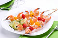 Grilled Shrimps And Cucumber S Stock Photo - 2745480