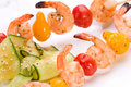 Grilled Shrimps And Cucumber S Royalty Free Stock Photo - 2745495