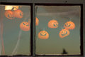 Window With Halloween Decoration Royalty Free Stock Photography - 27403077