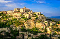 Gordes Medieval Village Sunset View, France Royalty Free Stock Photography - 27405287