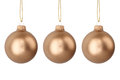 Gold Christmas Balls Stock Images - 27415634