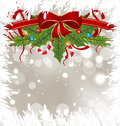 Christmas Frosty Card With Holiday Decoration Stock Photos - 27419543