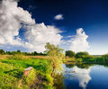 Landscape With Lake And Tree Royalty Free Stock Photos - 27422038