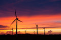 Silhouette Of Windturbines Stock Image - 27422821