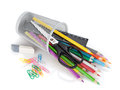 Various Colour Pencils And Office Tools Royalty Free Stock Image - 27428936