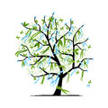 Abstract Tree With Ribbons For Your Design Stock Photography - 27432532