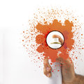 Spraying With Paint Stock Image - 27445351