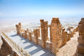 Ruins Of Ancient Fortress Masada, Israel Royalty Free Stock Photography - 27449557