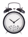 Alarm Clock With A Bunch Of Numbers On The Dial Stock Images - 27459104