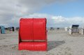 Red Beach Chair Royalty Free Stock Photo - 27459485