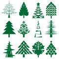 Green Christmas Tree Series Royalty Free Stock Photo - 27461195