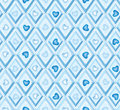 Seamless Pattern With Hearts And Blue Diamonds Stock Image - 27462691