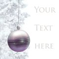 Postcard With Christmas Bauble Royalty Free Stock Images - 27468599