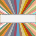 Torn Paper With Colorful Retro Rays Royalty Free Stock Images - 27469399