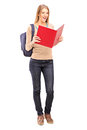 Female Student Reading A Book Royalty Free Stock Photography - 27470697
