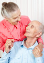 Portrait Of A Smiling Elderly Couple Royalty Free Stock Photos - 27478958