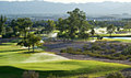 Golf Course With Mountains In Background Stock Photo - 27479110