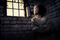Woman Prisoner In A Straitjacket Royalty Free Stock Image - 27480146