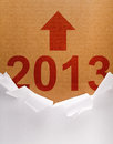 Unpacking The New Year 2013 Stock Image - 27484761