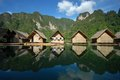 Small Floating House In The Lake. Royalty Free Stock Photography - 27488117