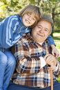 Happy And Jolly Grandfather And Grandson Royalty Free Stock Photos - 27489828