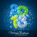Merry Christmas And Happy New Year 2013 Stock Photo - 27517710