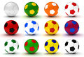 Colorful Soccer Balls Stock Images - 27521004