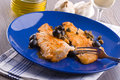 Fish Fillet With Black Olives And Capers. Royalty Free Stock Image - 27522906