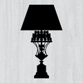 Luxury Lamp On A Scratched Grey Wallpaper Stock Photos - 27524143